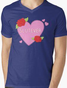 Slutever Heart Mens V-Neck T-Shirt