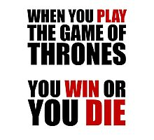 When You Play the Game of Thrones... Photographic Print