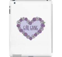 Girl Gang Floral Heart iPad Case/Skin