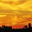 Painted sky over New York City  by Alberto  DeJesus