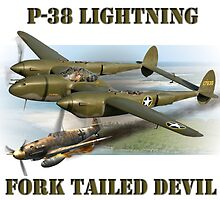 P-38 Forked Tail Devil by Mil Merchant