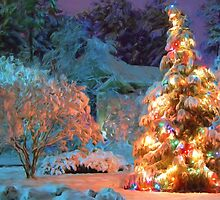 Snowy Christmas Tree by Sol Noir Studios