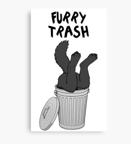 Furry Trash - Black/Melanistic Wolf Canvas Print