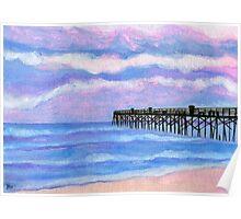 Flagler Beach Pier' Poster