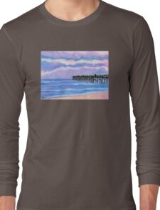 Flagler Beach Pier' Long Sleeve T-Shirt