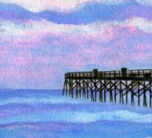 Flagler Beach Pier' Sticker