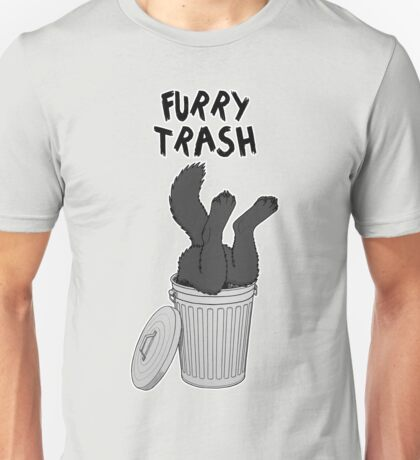 Furry Trash - Black/Melanistic Wolf Unisex T-Shirt