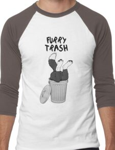 Furry Trash - Border Collie Men's Baseball ¾ T-Shirt