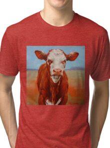Calf Stare Tri-blend T-Shirt