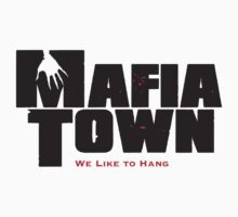 Mafia Town Logo (Black/Red) Kids Tee