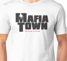 Mafia Town Logo (Black/Red) Unisex T-Shirt