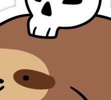 Skull Sloth Sticker
