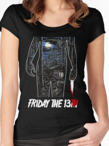 Friday the 13th Movie Poster Women's Fitted Scoop T-Shirt