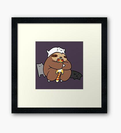 Sloth Love Cats Framed Print