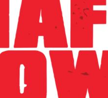 Mafia Town Logo (Red/White) Sticker