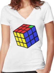 Unsolvable Problem Women's Fitted V-Neck T-Shirt