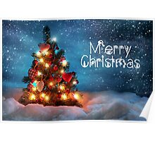 Cute Tree Christmas Card - Merry Christmas Poster