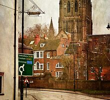 Worcester Cathedral from Deansway by Lissywitch
