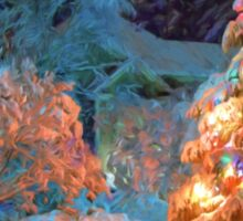 Snowy Christmas Tree Sticker