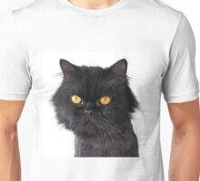 Black Persian Cat with Yellow Eyes Unisex T-Shirt