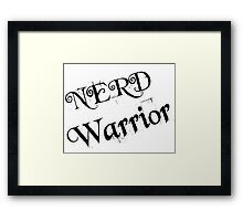 NERD WARRIOR Framed Print