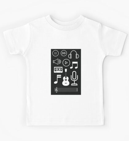 Music Collection (black) Kids Tee