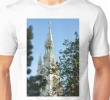 Saints Peter and Paul Church White Glow Through the Trees Unisex T-Shirt