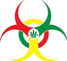 Rastafarian Bio-Hazard Marijuana 4:20 Hempola by LGdesigns