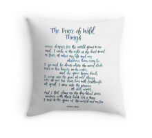 The Peace of Wild Things Throw Pillow