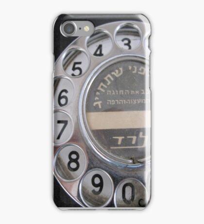 Vintage rotary phone iPhone Case/Skin