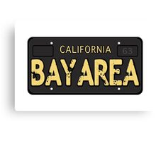 Bay Area California Old School Canvas Print