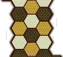 Hexes Chess 3P2 game board (3-pawn, 2-player) Sticker