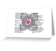 Want you gone - Portal song Greeting Card