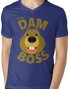 The Dam Boss Mens V-Neck T-Shirt