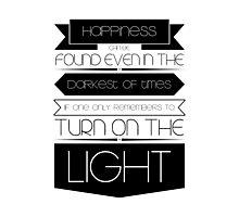 Happiness (Black) Photographic Print