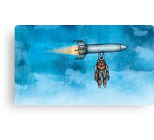 Sad Magnet Man Canvas Print