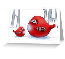 Little Red Robins Greeting Card