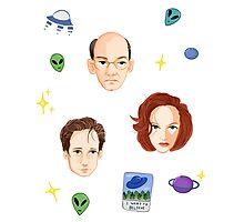 X Files - FBI Agents Photographic Print