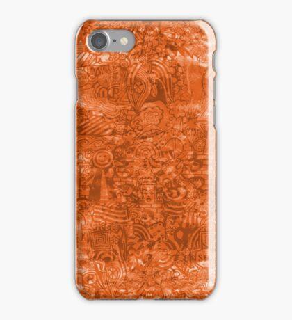 ironic chaos - (orange) iPhone Case/Skin