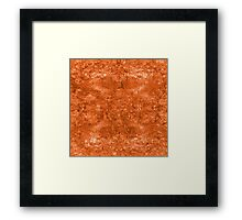 ironic chaos - (orange) Framed Print