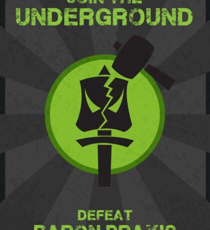 Underground Propaganda Sticker