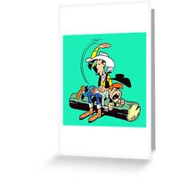 lucky luke and billy the kid Greeting Card