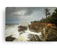Fury On The Oregon Coast Canvas Print