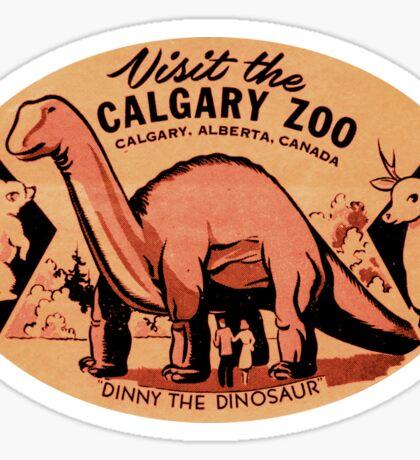 Calgary Zoo Dinosaur AB Alberta Vintage Travel Decal Sticker