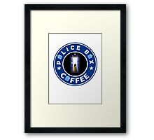 Police Box Coffee | Doctor Who Framed Print