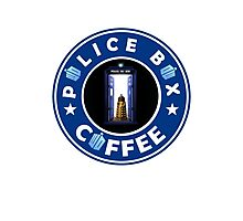 Police Box Coffee | Doctor Who Photographic Print