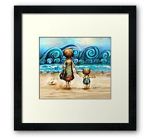 Beachcombers Framed Print