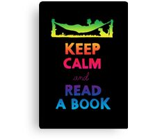 KEEP CALM AND READ A BOOK (RAINBOW) Canvas Print