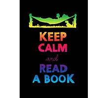 KEEP CALM AND READ A BOOK (RAINBOW) Photographic Print