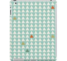 Triangles - Mint Tangerine iPad Case/Skin